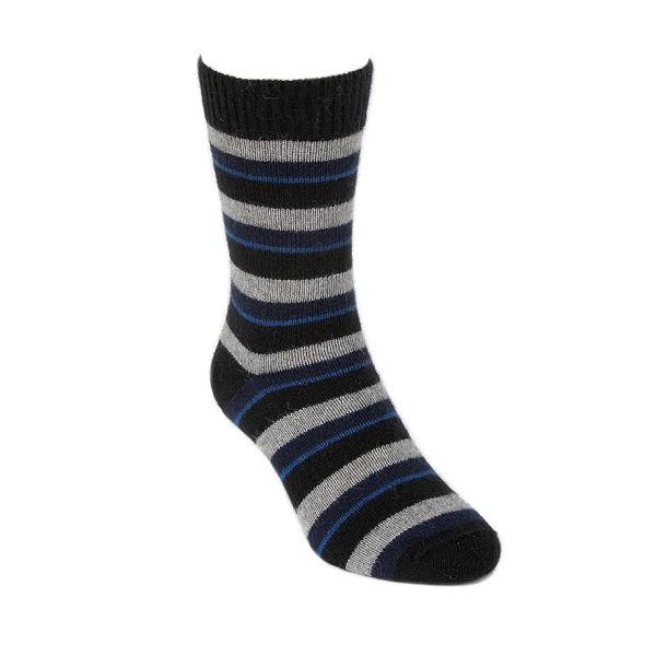 多彩條紋【藍灰黑】紐西蘭貂毛羊毛襪保暖襪 冬季保暖襪休閒襪男用女用 保暖襪,毛襪,羊毛襪,雪地襪