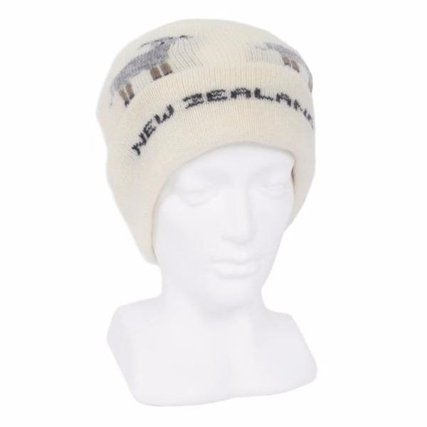 羊咩咩【米白】紐西蘭100%純美麗諾羊毛帽 雙層冬季保暖帽-登山旅遊居家外出頭部保暖 羊毛帽,保暖帽,登山帽,毛線帽