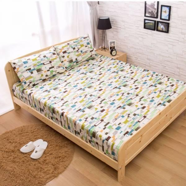Ally 菲夢絲 單人兩件式唐納德-綠精梳純棉床包組 Ally 菲夢絲 單人兩件式唐納德-綠精梳純棉床包組