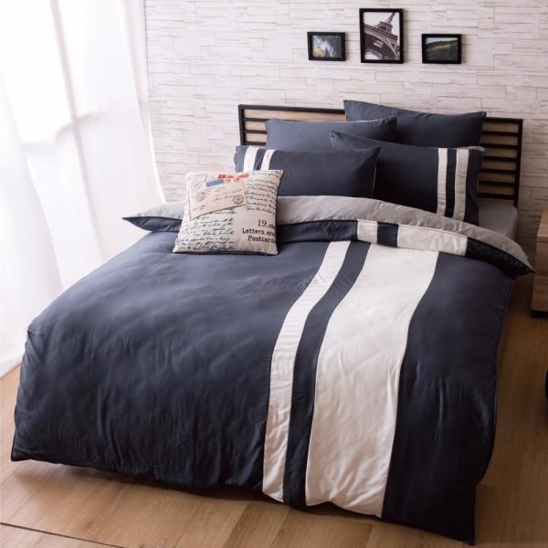 Ally 雙人四件式午夜希臘天絲床包兩用被組 Ally 雙人四件式午夜希臘天絲床包兩用被組