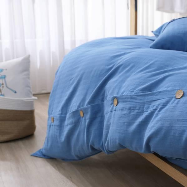 【 好關係 HAOKUANXI 】悠遊海洋-天然色織棉被套 好關係, HAOKUANXI, haokuanxi, 寢具, 床包, 被套, 枕頭, 棉被, 保潔墊, MIT, 台灣製造, 沐浴朝陽, 天然色織棉,