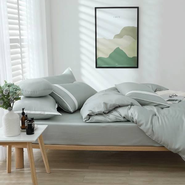 【 好關係 HAOKUANXI 】春日石綠-萊賽爾天絲床包枕套組 好關係, HAOKUANXI, haokuanxi, 寢具, 床包, 被套, 枕頭, 棉被, 保潔墊, MIT, 台灣製造, 春日石綠, 萊賽爾天絲