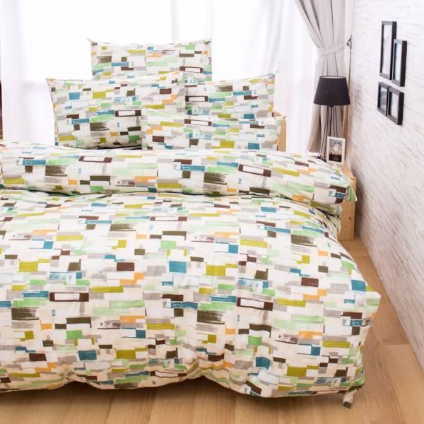 Ally 菲夢絲 雙人四件式唐納德-綠精梳純棉床包被套組 Ally 菲夢絲 雙人四件式唐納德-綠精梳純棉床包被套組
