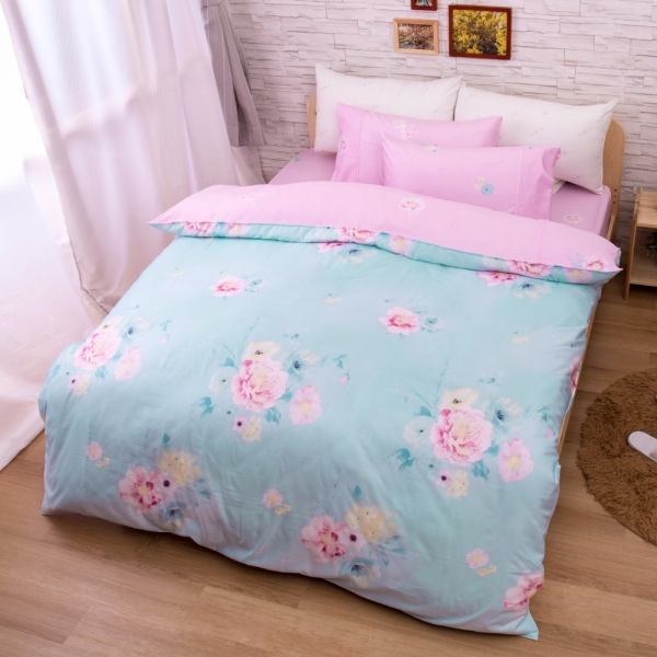 Ally 菲夢絲雙人加大四件式花開滿園天絲床包兩用被組 Ally 菲夢絲雙人加大四件式花開滿園天絲床包兩用被組