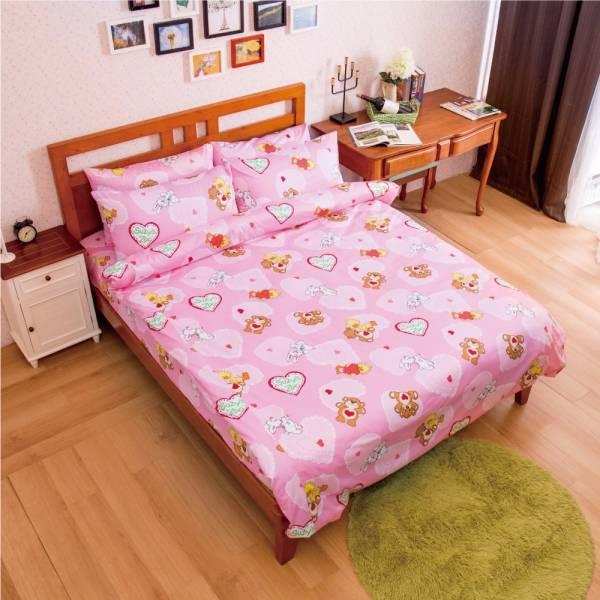Ally 蘇西動物園幸福滿點粉純棉雙人床包被套組 Ally 蘇西動物園幸福滿點粉純棉雙人床包被套組