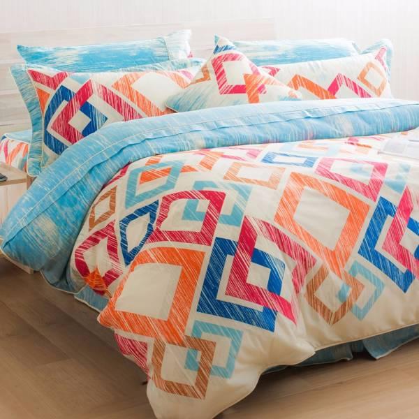 Ally 西崎李記方塊酥雙人加大純棉七件式床罩組 Ally 西崎李記方塊酥雙人加大純棉七件式床罩組
