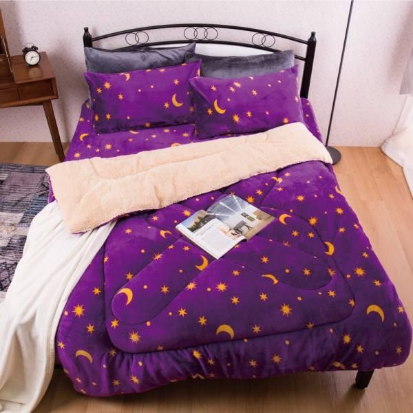 Ally 紫底星空法蘭絨羊羔絨暖暖被 Ally 紫底星空法蘭絨羊羔絨暖暖被