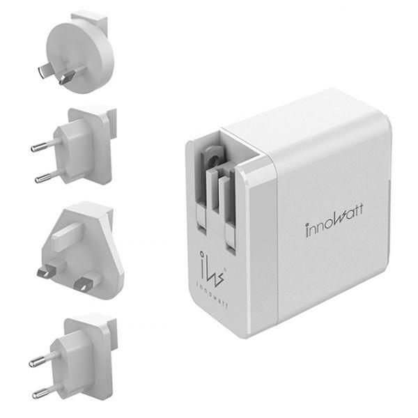 innowatt POWER PD238 可折疊38W雙口USB-C & USB-A快速充電旅充轉接器 (蘋果iPhone安卓通用)