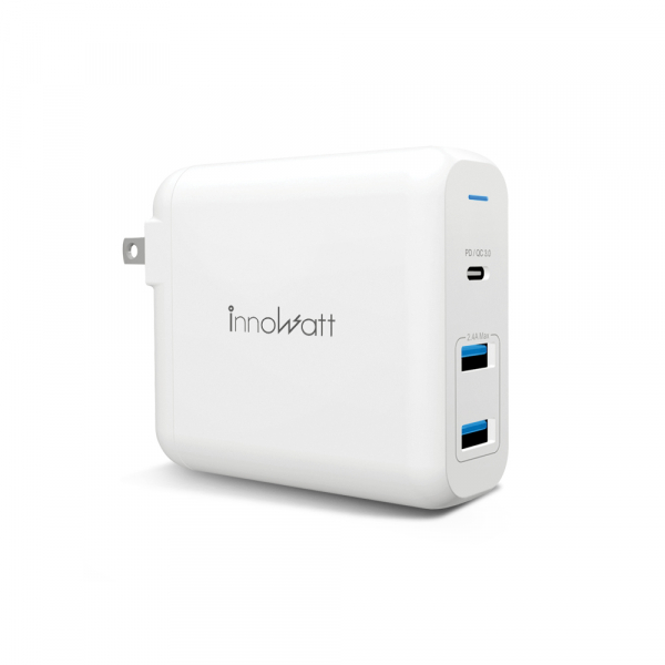 innowatt USB Type-C 60W PD 3.0 / QC 3.0三孔智能快速充電器 Power 360