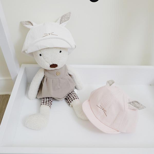 韓製純棉可愛貓咪造型嫩嬰遮陽帽 正韓 韓國進口 韓製 純棉幼兒遮陽帽  baby遮陽帽 造型帽