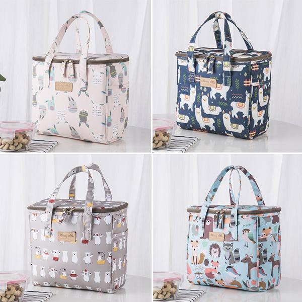 韓系可愛動物手提防水野餐保溫袋 保溫袋,保溫盒,保溫提袋,保冷袋,保溫包