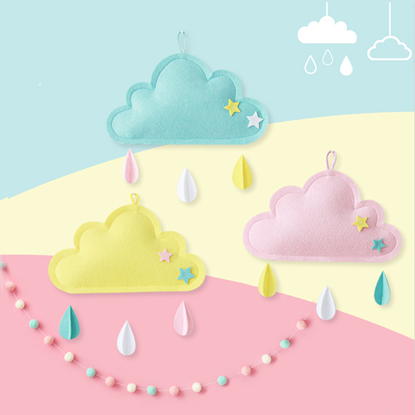 質感加厚毛氈雲朵繽紛水滴掛飾 instagram,ig拍照佈景,婚禮佈置,生日派對裝飾,兒童房佈置,帳篷裝飾,雲朵水滴掛飾
