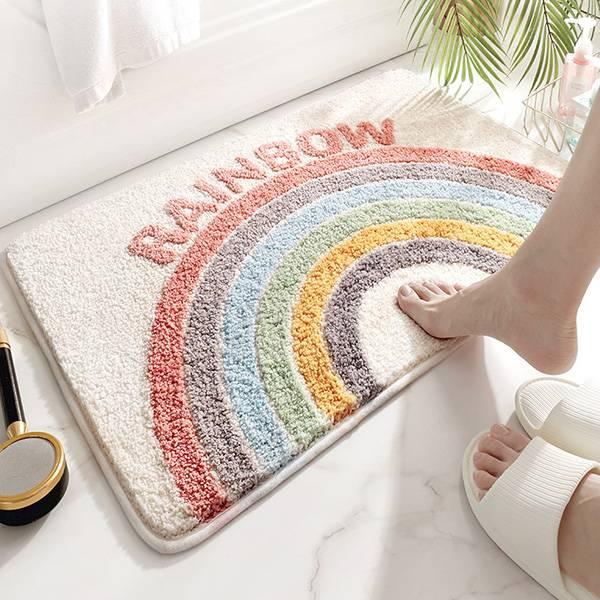 IG款甜美彩虹超吸水防滑地墊 防滑地墊,吸水地墊,浴室地墊