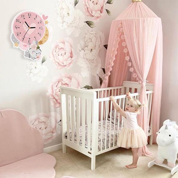 萌感愛心氣球小兔子無聲靜音時鐘 兒童房時鐘  學習時鐘 動物時鐘 靜音時鐘 兒童時鐘 動物時鐘