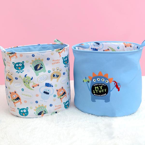 萌趣小怪獸玩具衣物收納桶 玩具收納桶,收納籃,置物籃
