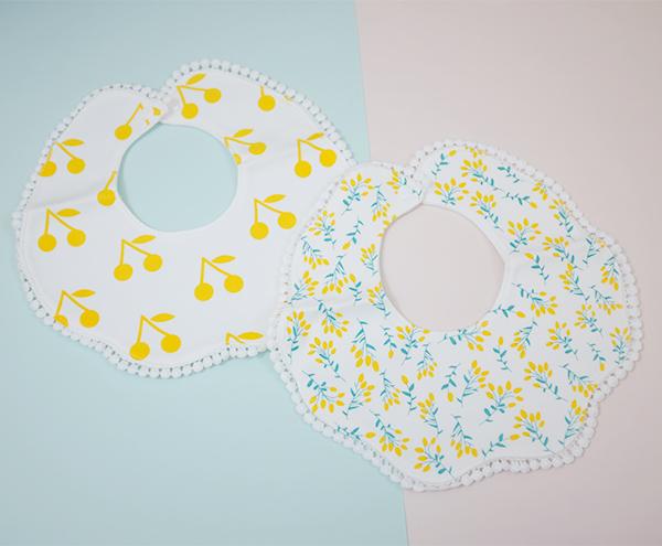 韓系甜美印花/櫻桃蕾絲花邊圍兜口水巾 圍兜,口水巾,圍兜假領子,碎花圍兜,櫻桃