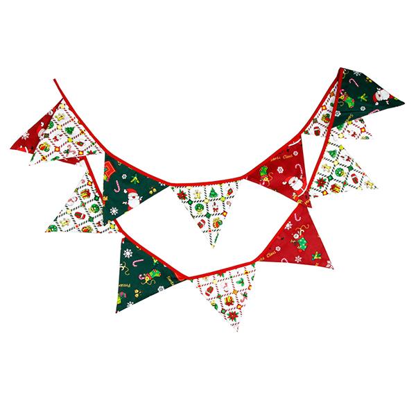 聖誕紅綠派對節慶三角旗 三角旗幟,聖誕佈置,派對裝飾,兒童房佈置