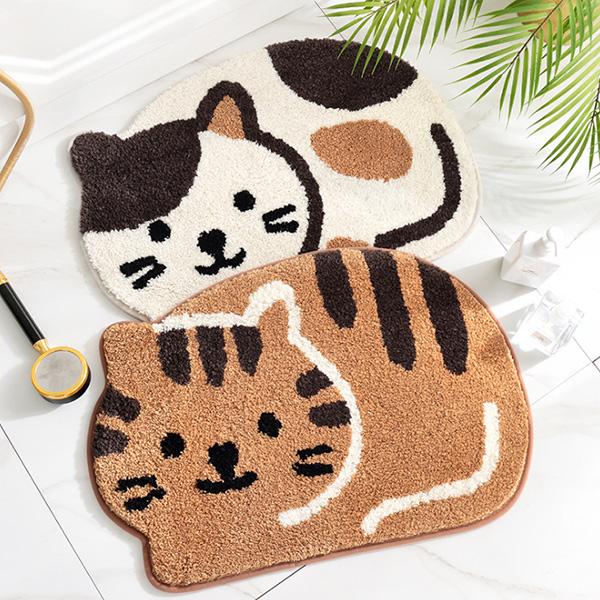 可愛貓咪超吸水絨毛防滑地墊 浴室地墊,吸水地墊,防滑墊,防滑地墊