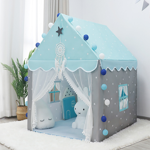 北歐雙色小星星兒童房遊戲帳篷 兒童帳篷,室內帳篷,兒童房佈置,小屋子帳篷,房屋帳篷,遊戲帳篷