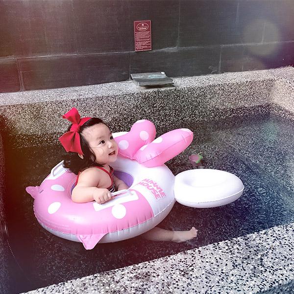 小女神必備!超萌蝴蝶結米妮造型泳圈 幼兒游泳圈,泳圈