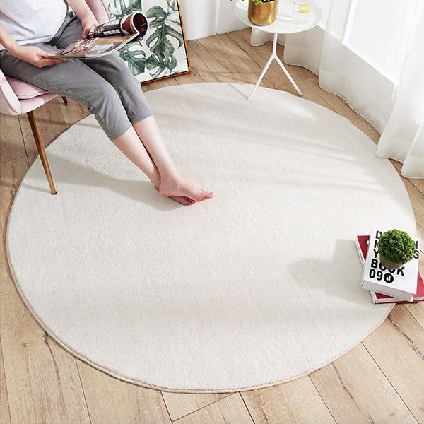 北歐簡約素色柔軟羊羔絨大尺寸120cm地墊 羊絨地墊,厚實地墊,遊戲地墊,兒童房佈置,爬行地墊,兒童地墊,房間地墊,防滑地墊