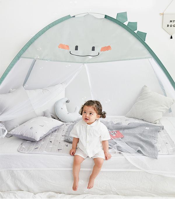 韓國萌Q小恐龍速開蚊帳/防蚊帳篷 防蚊帳篷,速開帳篷,兒童防蚊,兒童帳篷
