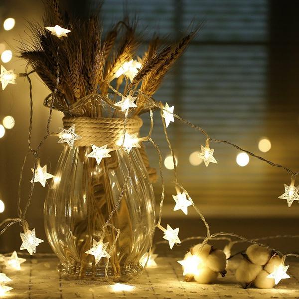 IG爆紅 幸福微光氛圍星星燈串 50燈電池款  instagram,ig拍照佈景燈串,婚禮佈置燈串,生日派對裝飾燈串,兒童房佈置燈串