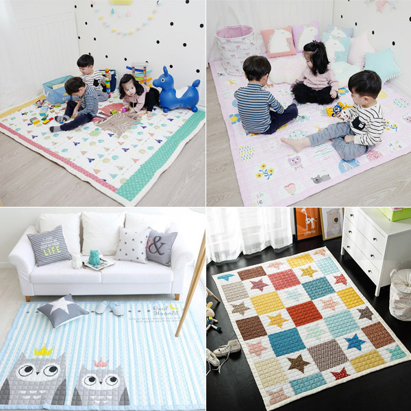 韓國質感純棉地墊超大防滑爬行墊 遊戲地墊,兒童房佈置,爬行地墊,兒童地墊,房間地墊,防滑地墊