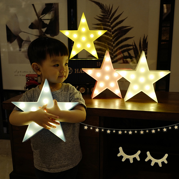 韓國款兒童房星星LED造型小夜燈 instagram,ig拍照佈景,小夜燈,擺飾燈,裝飾燈