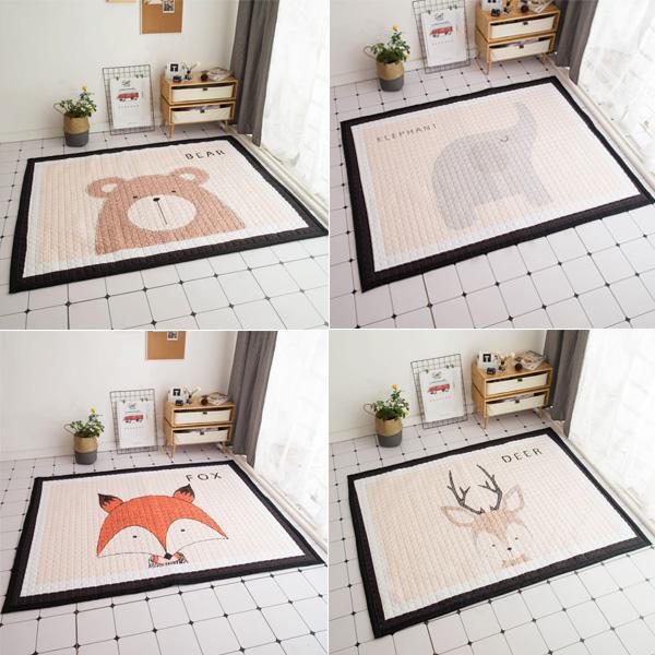 北歐原創設計超大尺寸動物防滑地墊 instagram,ig拍照佈景,遊戲地墊,兒童房佈置,爬行地墊