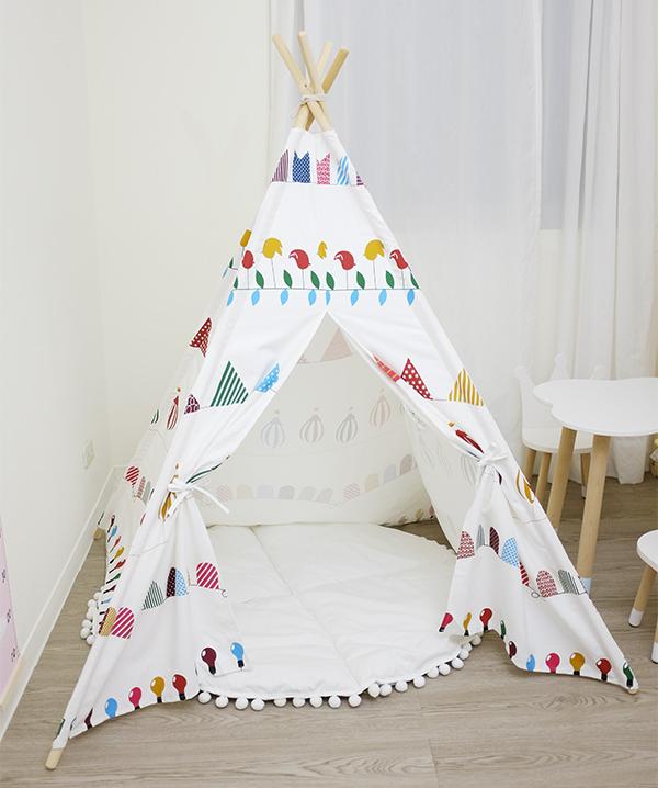 繽紛彩色熱氣球兒童四角帳篷 兒童印地安帳篷,兒童帳篷,兒童玩具帳篷,遊戲帳篷,兒童房佈置