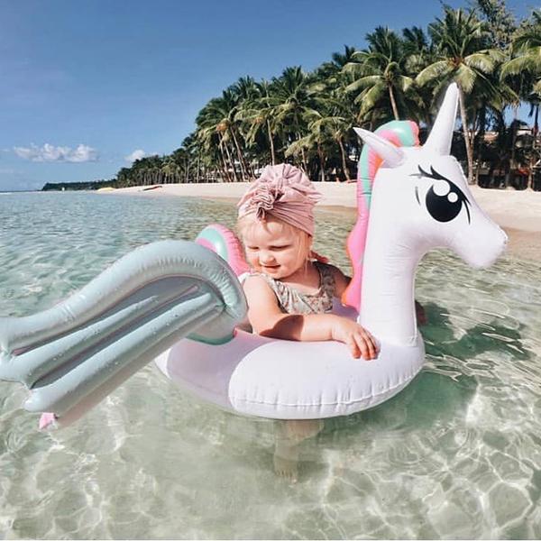 歐美爆紅彩虹獨角獸坐式幼兒泳圈 兒童游泳圈,泳圈,彩虹泳圈