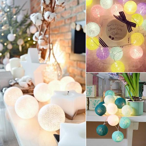 北歐IG熱門LED棉線球燈串(300cm20燈) instagram,ig拍照佈景燈串,婚禮佈置燈串,生日派對裝飾燈串,兒童房佈置燈串,棉線球燈,圓球燈