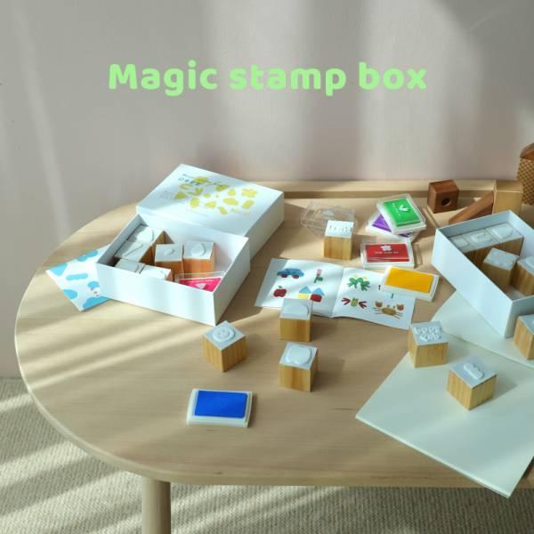 實木遊戲印章 兒童創意禮物  魔盒實木遊戲印章  兒童創意禮物