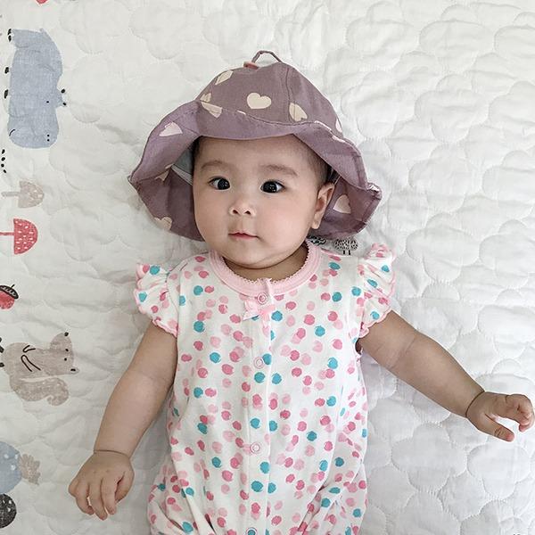 韓製愛心花朵漁夫帽造型嬰兒純棉遮陽帽 正韓 韓國進口 韓製 幼兒遮陽帽  baby遮陽帽 造型帽