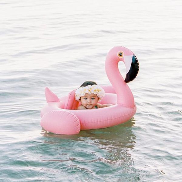 IG爆紅小紅鶴/小天鵝造型座型泳圈 幼兒游泳圈,泳圈,幼兒座圈,西瓜 鳳梨造型