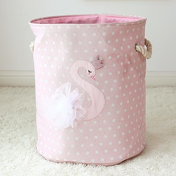甜美公主圓點小天鵝紗裙收納籃 兒童收納,玩具收納,收納籃,置物籃,收納桶
