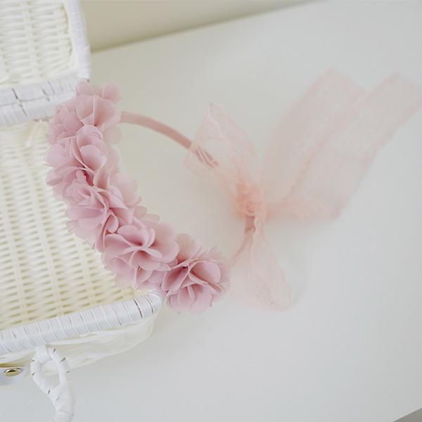 正韓 好美雪紡花花蕾絲髮箍 正韓 韓國進口 花朵 髮箍 女童髮飾 小花童髮飾