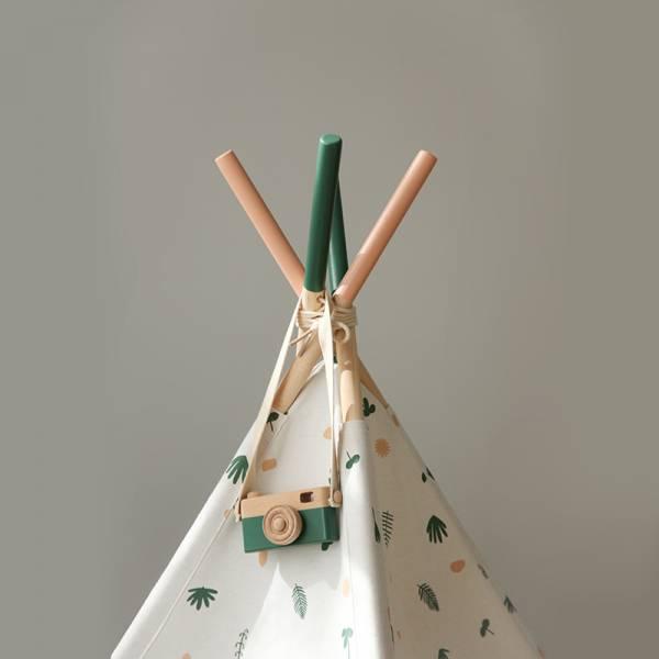 北歐童趣 幾何與樹葉款 兒童小木屋帳篷
