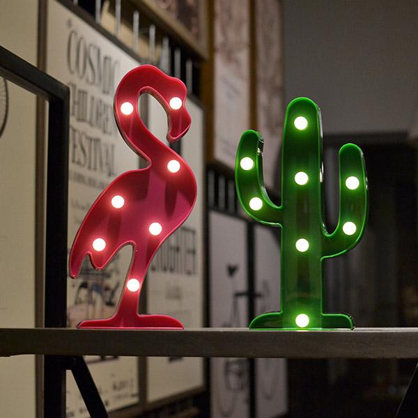 韓國款兒童房仙人掌/桃火鶴LED造型小夜燈 instagram,ig拍照佈景,小夜燈,擺飾燈,裝飾燈
