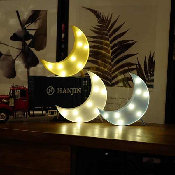 韓國款兒童房月亮LED造型小夜燈 instagram,ig拍照佈景,小夜燈,擺飾燈,裝飾燈