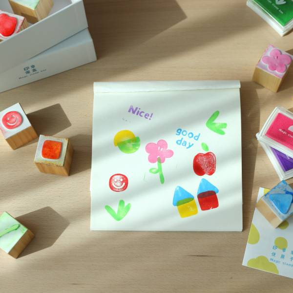 魔法實木遊戲印章  魔盒實木遊戲印章  兒童創意禮物