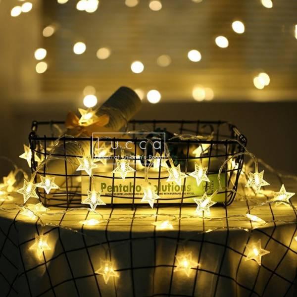 IG爆紅 溫暖氛圍星星燈串 100燈插電款  instagram,ig拍照佈景燈串,婚禮佈置燈串,生日派對裝飾燈串,兒童房佈置燈串