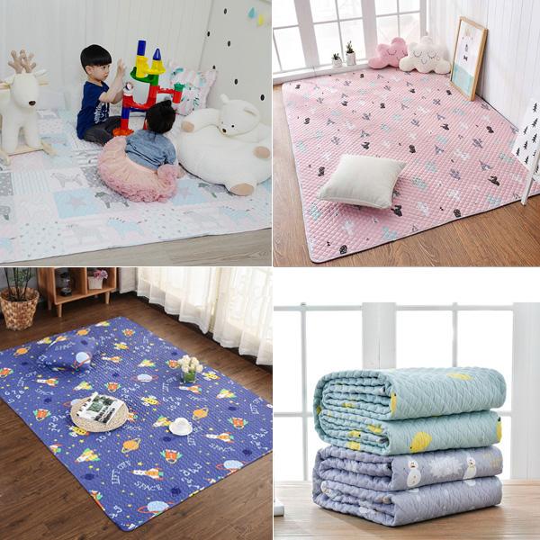 北歐童趣加大150x210cm純棉地墊(防滑) 遊戲地墊,兒童房佈置,兒童地墊,房間地墊,防滑地墊