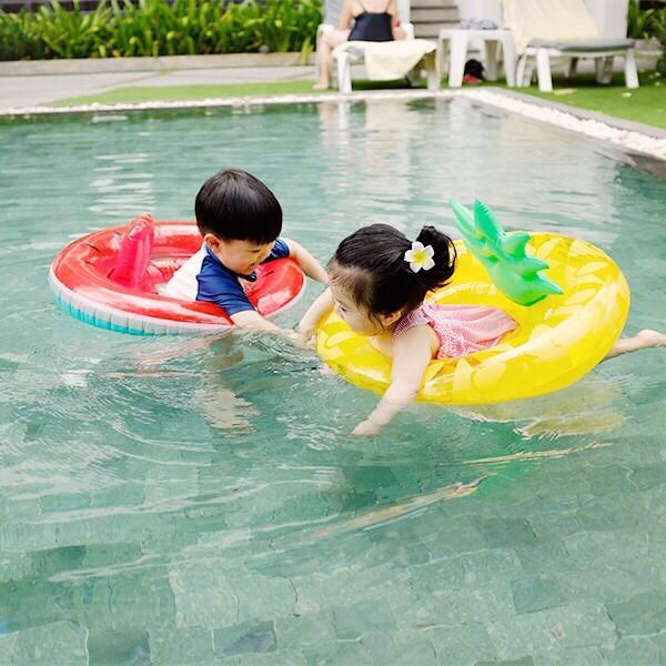 超吸睛!夏日萌感西瓜/鳳梨水果造型座型泳圈 幼兒游泳圈,泳圈,幼兒座圈,西瓜 鳳梨造型