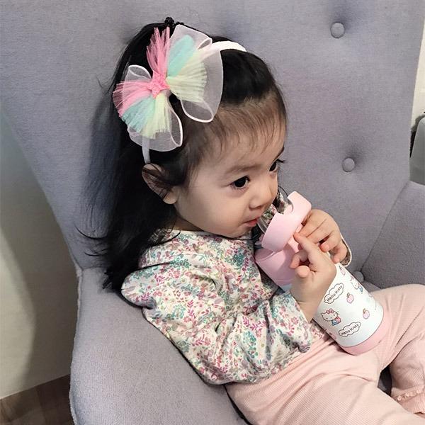 正韓 Party必備彩色軟紗星星髮箍 正韓 韓國進口 彩虹 蝴蝶結 髮箍 女寶女童髮飾