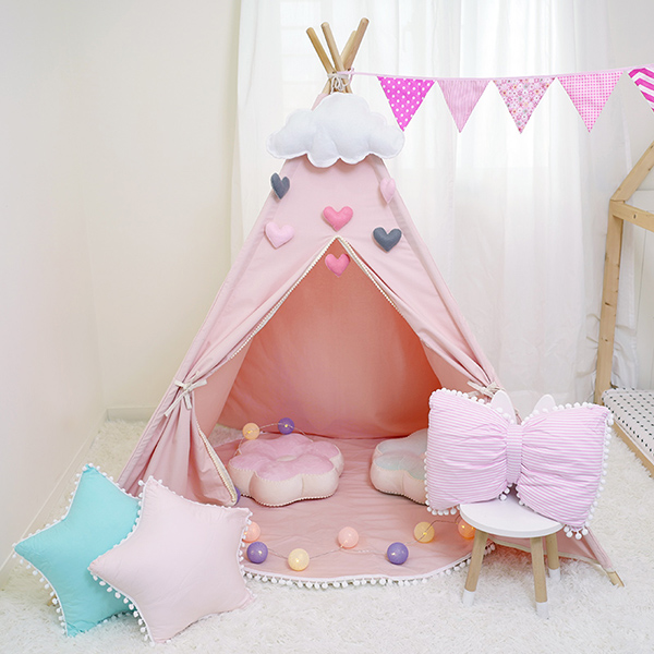 夢幻公主粉色五角帳篷