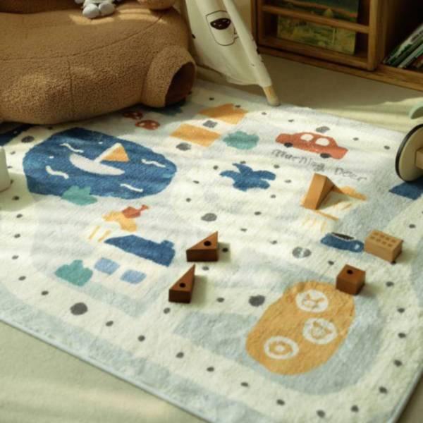 北歐童話世界遊戲地墊 可水洗防滑地墊 (遊戲地毯+3櫸木棋子+布骰子)