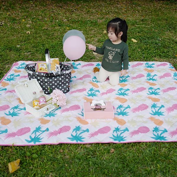 時髦輕巧可機洗大尺寸200x150cm附提袋野餐墊 野餐墊,帳篷地墊,沙灘墊,防潮野餐地墊