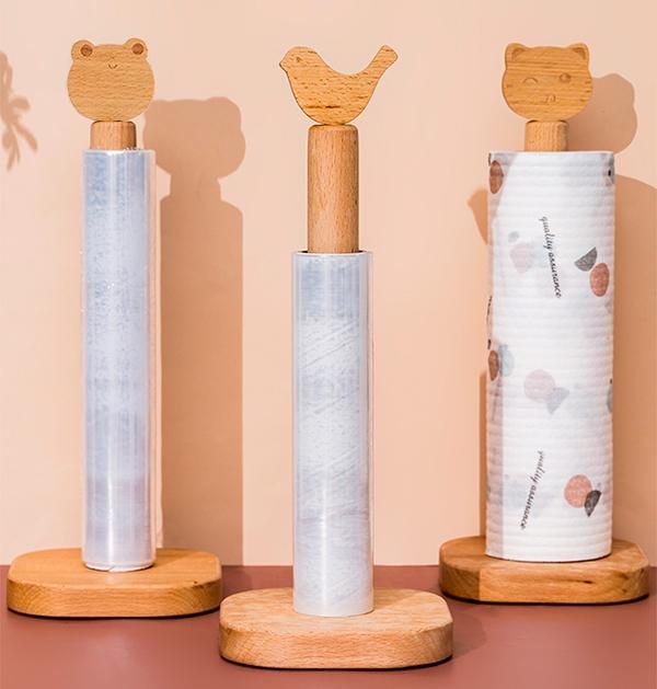 童趣北歐造型櫸木紙巾架 紙巾架,實木紙巾架,紙巾收納架